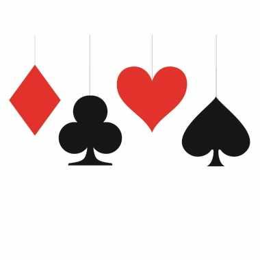 8x stuks kaartspel casino speelkaarten decoratie hangers