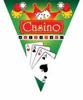 3x stuks vlaggenlijnen in casino thema